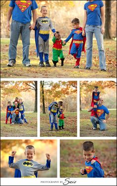 family superhero shoot! I am in love with this idea and this shoot! So awesome!
