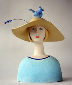 Ceramics by Sue Crossfield at Studiopottery.co.uk - Girl in a Dream.