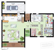 Plan habillé Rdc - maison - Une maison toute de bois vêtue