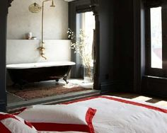 Open Plan Bathroom In The Bedroom Designs