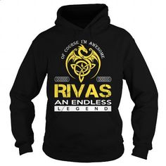 RIVAS An Endless Legend (Dragon) - Last Name, Surname T-Shirt - #gift for her #thank you gift. CHECK PRICE => https://www.sunfrog.com/Names/RIVAS-An-Endless-Legend-Dragon--Last-Name-Surname-T-Shirt-Black-Hoodie.html?60505