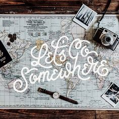 Fun travel typography by ligature collective on IG!  #typography #travel