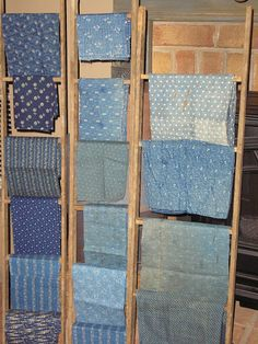 Primitive blue fabrics!