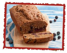 Blueberry Bread Recipe   (uses oats and yogurt; no oil or butter)   [made Sept. 2013 with blackberries instead of blueberries and was way too chewy. Maybe should try quick-cooking oats instead. Great cinnamon nutmeg flavor tho.]