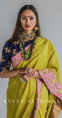 Benarsi Saree By Ayush Kejriwal For purchases email me at designerayushkejr. Indian Blouse, Indian Ethnic Wear, Indian Sarees, Ethnic Sarees, Indian Style, Benarsi Saree, Anarkali, India Fashion, Ethnic Fashion