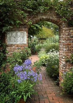 TOP 10 DIY Garden Gates Ideas You are in the right place about Garden Pathway c. Back Gardens, Outdoor Gardens, Castle Gardens, The Secret Garden, Secret Gardens, Gothic Garden, Walled Garden, Terrace Garden, Garden Planters