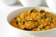 Vegan Pumpkin Risotto Recipe: Vegetarian and vegan pumpkin risotto with fresh basil