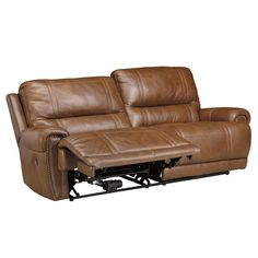 Paron - Vintage 2 Seat Reclining Sofa by Signature Design by Ashley at Royal Furniture Leather Reclining Sofa, Leather Sectional Sofas, Leather Sofa, Couches, Royal Furniture, New Furniture, Living Room Furniture, Types Of Sofas, Sofa Upholstery