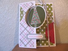 Stampin' Up! Festival of Trees, Merry Moments stack, flip card by Heather Westlake Fun Crafts, Arts And Crafts, Swing Card, Christmas Cards, Christmas Tree, Flip Cards, Winter Cards, Handmade Christmas, Stampin Up