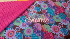 Light weight, minky backed blanket and burp cloth for granddaughter Emmie.  Embroidered.