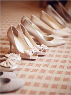 Neutral Bridesmaids Shoes - this could be really nice with grey?
