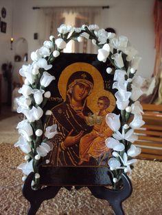 Η ΠΑΝΑΓΙΑ ΜΑΣ Orthodox Icons, Perfect Woman, Virgin Mary, Catholic, Greece, Religion, Flowers, Women, Hail Mary