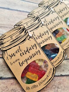 Wedding Favors for Kids, A Sweet Ending to A New Beginning, Wedding Kids Table Favors, Rustic Wedding Favors, Personalized Wedding Favors Kids Wedding Favors, Kids Table Wedding, Rustic Wedding Favors, Personalized Wedding Favors, Wedding With Kids, Diy Wedding, Wedding Gifts, Wedding Ideas, Useful Wedding Favors