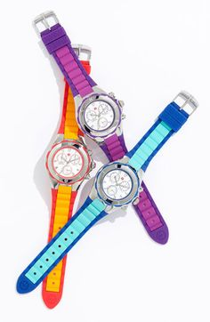Beach Getaway Essential: MICHELE 'Tahitian Jelly Bean' Watch (essential only if you need the time) #Nordstrom