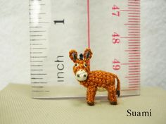 Miniature Brown Donkey Inch Made To Order by SuAmi on Etsy Burritos, Mini Burro, Mini Donkey, Crochet Amigurumi, The Last Picture Show, Display Boxes, Crochet Animals, Embroidery Thread, His Eyes