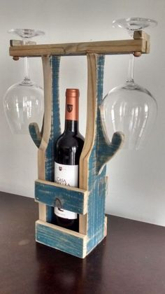 numerous upgraded guidelines for deciding upon required components of Cool Wood Projects Easy #WoodworkingFurnitureModern Unique Wine Racks, Wood Wine Racks, Wine Rack Inspiration, Wine Rack Design, Pallet Wine, Wooden Projects, Diy Projects, Wine Table, Wine Decor