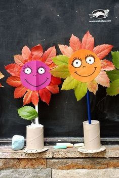 Catherine Naukovich - - Fall Crafts For Kids Autumn Crafts, Fall Crafts For Kids, Autumn Art, Nature Crafts, Toddler Crafts, Diy For Kids, Autumn Leaves, Easy Crafts, Diy And Crafts