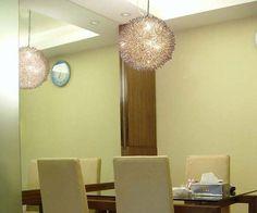 Handmade Aluminum Pendant Lamp Wire Round Ball Ceiling Light Dining Chandelier…
