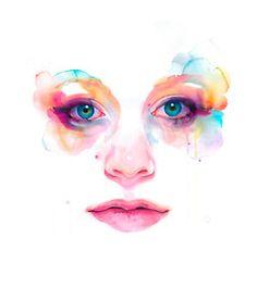 25 Beautiful watercolor paintings by Artist Marion Bolognesi Watercolor Art Face, Watercolor Portraits, Watercolor Paintings, Face Illustration, Watercolor Illustration, Girl Illustrations, Marion Bolognesi, Gravure, Drawing Tutorials