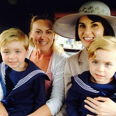 looks...its george times 2~!! the twins who play little george on downton abbey season 5