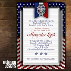 Eagle Scout Court of Honor Invitation by DigileachDesigns on Etsy