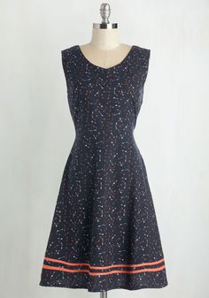 One and the Aim Dress. Stylish and your name are nearly interchangeable terms amongst your pals - especially when youre sporting this navy-blue frock by Mata Traders! #blue #modcloth