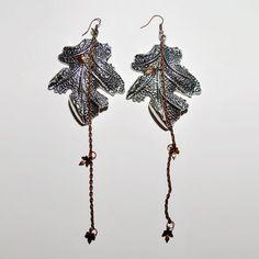 Fab.com | Heart Tree Earrings Silvertone by Westeros
