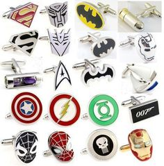 Wedding Party Groom Shirt Square DC Marvel Super Hero CuffLinks Hot in Jewelry & Watches | eBay