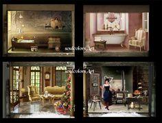 Closeup Christmasdollhouse by SoulcolorsArt on DeviantArt
