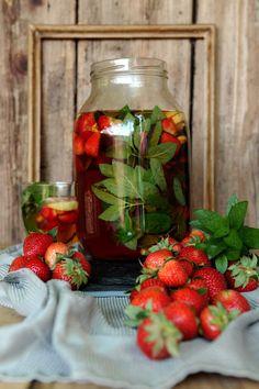 Apetyczna babeczka-Anielska Kuchnia: Mrożona herbata z zielonej spiżarni