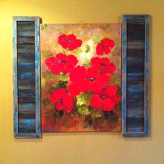 Shutters for a picture frame