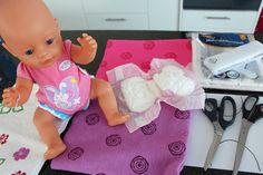 Puppenwindel ohne Nähen | DIY | aus Aldi-Putztüchern