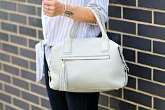 GiGi New York   Life With Emily Fashion Blog   Grey Welby Satchel