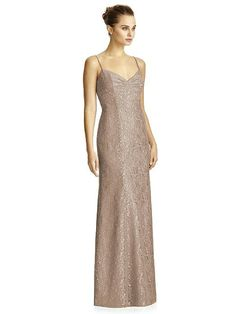 Sparkly Long Bridesmaids Dress with Spaghetti Straps Dessy Bridesmaid 24082bce4d20