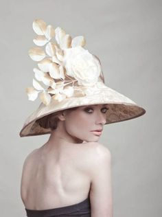 2082bb4a836 Couture Derby Hat by Arturo Rios Crazy Hats