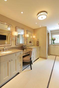 #bathroom #custommirror #white #tile #sink #interiordesign #hillcrestdesign http://www.hillcrestdesign.ca