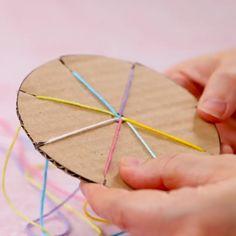 yarn crafts for kids ~ yarn crafts ; yarn crafts for kids ; yarn crafts for adults ; yarn crafts to sell ; yarn crafts for kids easy Diy Crafts Hacks, Diy Home Crafts, Diy Arts And Crafts, Cute Crafts, Creative Crafts, Sewing Crafts, Decor Crafts, Simple Crafts, Fabric Crafts