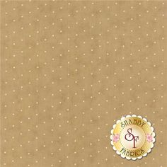 """Crazy For Red 14797-23 Tan Ivory by Minick Simpson for Moda Fabrics: Crazy For Red is a collection by Minick Simpson for Moda Fabrics. This fabric features cream dots on a brown background.       Width: 43""""/44""""Material: 100% CottonSwatch Size: 6"""" x 6"""""""