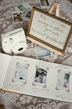 An instant photo guestbook makes a fun memento for any special occasion. For our wedding my husband Shane and I bought a Fuji Film Instax Mini 8 Inst