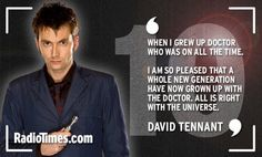 David Tennant Cast of Doctor Who send their 10th anniversary messages via Radio Times  http://www.radiotimes.com/news/2015-03-26/happy-birthday-to-who-the-doctors-companions-stars-and-writers-send-10th-anniversary-messages