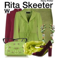 Inspired Miranda Richardson as Rita Skeeter in the Harry Potter film franchise.
