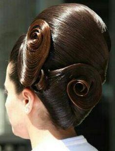 Sleek Hairstyles, Pretty Hairstyles, Updo Hairstyle, Big Updo, Big Bun, Helmet Hair, Sleek Updo, Hairspray, Bad Hair