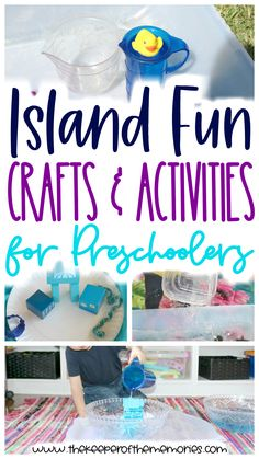 If you're a preschooler teacher or homeschool mama who is looking for lots of fun ideas to put together a splashin' island theme, then this post is definitely for you! You'll find process art, STEAM and of course everything in between too! Click through to check it out now or pin it so you'll have awesome lesson plan ideas for later! Happy learning through play! #preschool #island #preschoolthemes #islandtheme #beach #ocean #preschoolocean #preschoolbeach #oceantheme #beachtheme Craft Activities For Toddlers, Geography Activities, Toddler Learning Activities, Preschool Themes, Science For Kids, Toddler Preschool, Preschool Activities, Diy Crafts For Kids Easy, Craft Projects For Kids