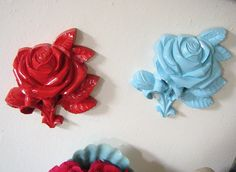 Rose wall plaques