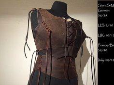 Wonderbra Armor Leather Fur Belt brown Woman Leather von Elbengard