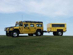 My 1998 Hummer H1 w/matching military trailer and custom rims all around