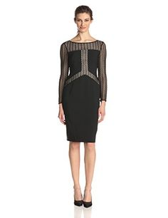 Maggy London Women's Long Sleeve Dress Blocked with Lace, Black/Gold, 2 Maggy London http://www.amazon.com/dp/B00NAWPE6K/ref=cm_sw_r_pi_dp_tiDIub10WZA3W
