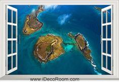 3D Abrolhos Archipielago Bahia Brazil window wall sticker art decal IDCCH-LS-001324