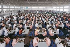 Manufacturing Youngor Textiles, Ningbo, Zhejiang Province, China, by Edward Burtynsky. James Casebere, James Turell, Bill Viola, Three Gorges Dam, Ningbo, Tumblr, China, Contemporary Photography, Contemporary Art