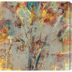 Equally at home in an artful collage or on its own as an eye-catching focal point, this lovely canvas print showcases an abstract motif.